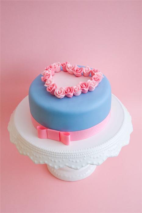 cute food photos - Rose Heart Cake