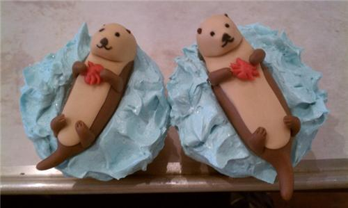 cute food photos - Otter Cupcakes