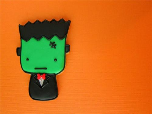 cute food photos - Frankenstein's Monster Cookie