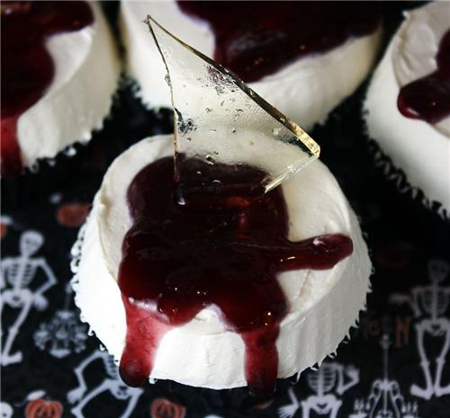 cute food photos - Shards of Glass Cupcakes